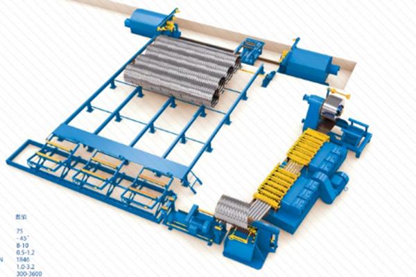 螺旋波纹钢管六箱机