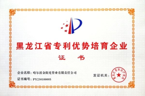 专利培育企业证书